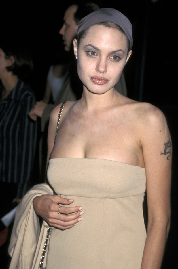 Premiere of 'Wallace' Caption:Angelina Jolie (Photo by Jim Smeal/WireImage) August 13, 1997
