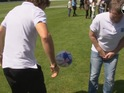 We give the celebs a football and magic happens (and Bradley Walsh gets hit in the crotch).