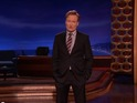 Conan O'Brien gathers most outrageous reactions to leaked Star Wars 7 pictures.