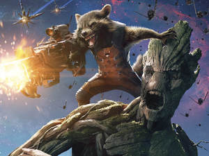 Groot, Rocket Guardians of the Galaxy poster