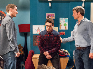 James explains to the Barton boys how Moira got pregnant
