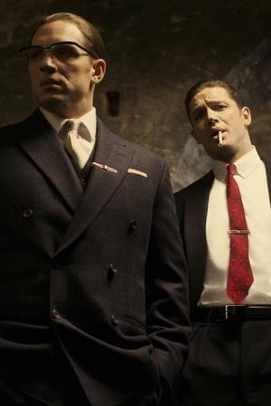 Tom Hardy as Ron and Reggie Kray in Legend