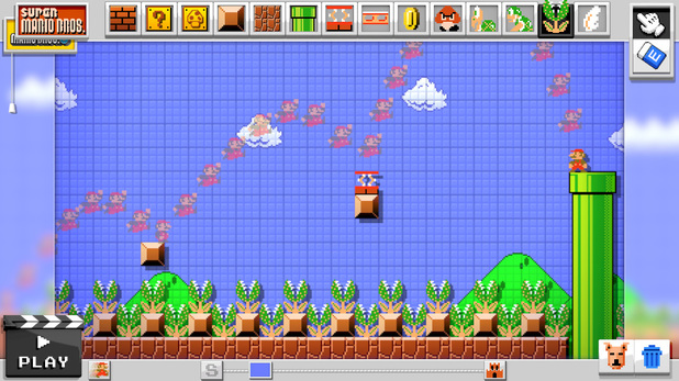Mario Maker allows you to create your own platforming levels on Wii U
