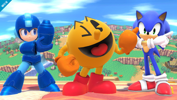 Pac-Man in Super Smash Bros
