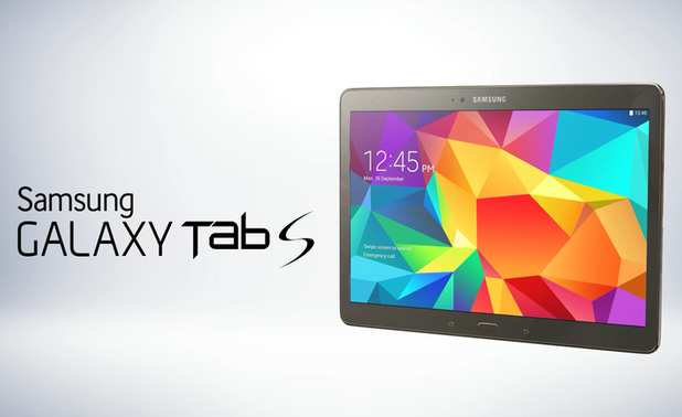 Press photograph of the Galaxy Tab S