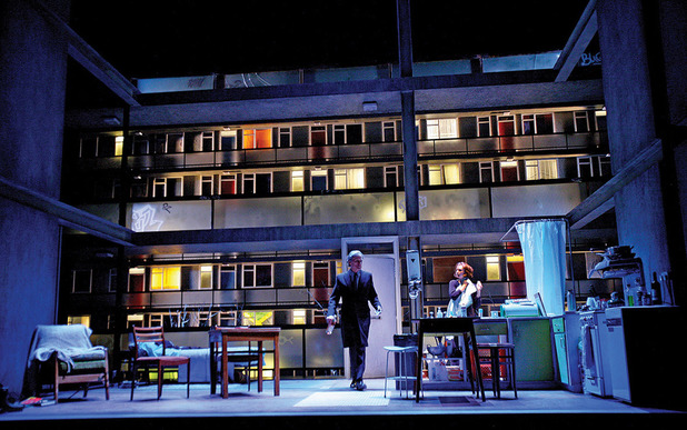 Bill Nighy as Tom Sergeant & Carey Mulligan as Kyra Hollis in Skylight at Wyndham's Theatre