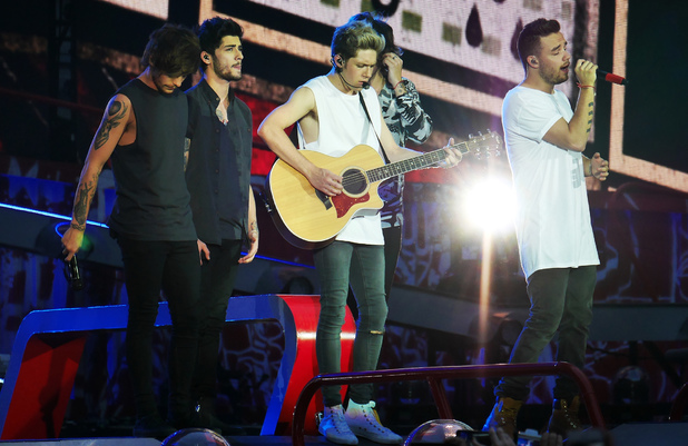 One Direction perform live at Wembley Stadium