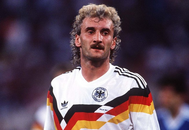 RUDI VOLLER (WEST GERMANY) WEST GERMANY V ARGENTINA WORLD CUP FINAL ROME 8/7/90 Italy Rome 8 Jul 1990