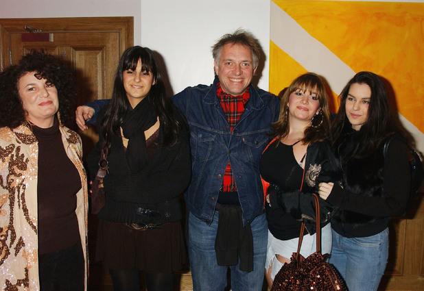 Rik Mayall in 2004 with wife Barbara and their children at a screening of Churchill: The Hollywood Years in which he starred