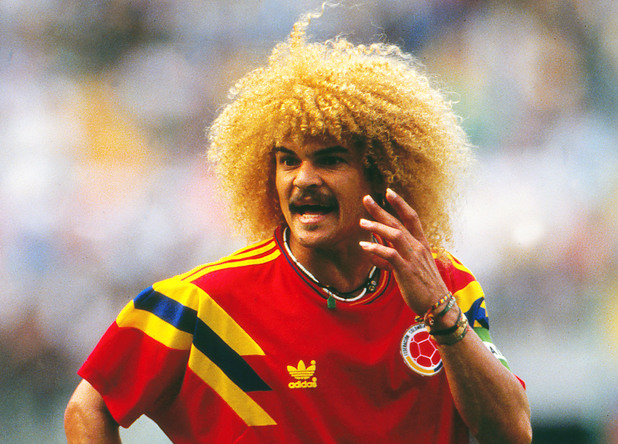 Carlos Valderrama (Colombia) West Germany v Colombia World Cup 1990 _Milan 19/06/1990 West Germany v Colombia 19 Jun 1990