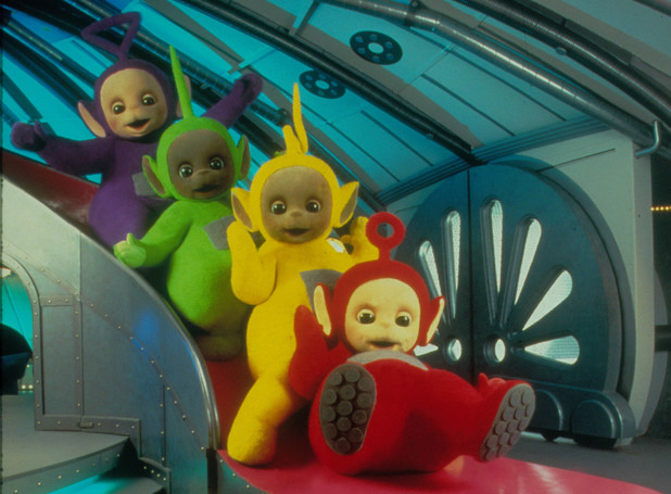 The Teletubbies: Tinky Winkie, Dipsy, La La, Po