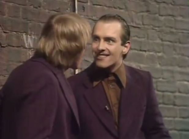 Ade Edmondson & Rik Mayall as the Dangerous Brothers on stage in 1981