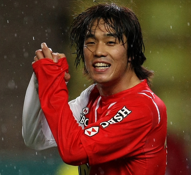 Monaco's Chu-Young Park of South Korea reacts during the French League One soccer match against Montpellier, Wednesday, Jan. 13, 2010, in Monaco stadium. (AP Photo/Lionel Cironneau)