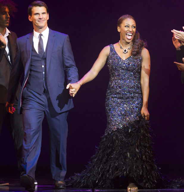 Alexandra Burke and Tristan Gemmill in The Bodyguard