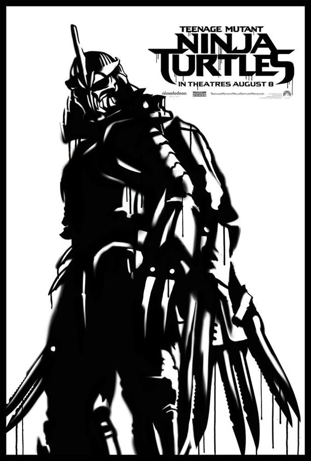 Teenage Mutant Ninja Turtles street poster: The Shredder