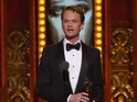 Neil Patrick Harris is awarded for performance in Hedwig and the Angry Inch.