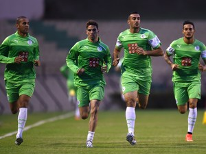 Algeria's football team in training