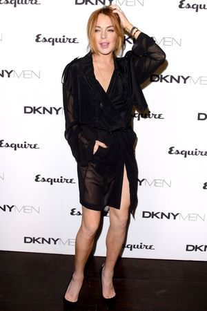 DKNY fashion show, London Collections: Men, Spring Summer 2015, London, Britain - 15 Jun 2014 Lindsay Lohan 15 Jun 2014