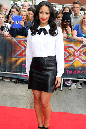 Sarah-Jane Crawford arriving at The X Factor auditions in Manchester