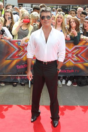 Simon Cowell arriving at The X Factor auditions in Manchester