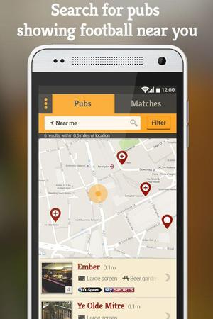 Corner - Find Football Pubs app for Android