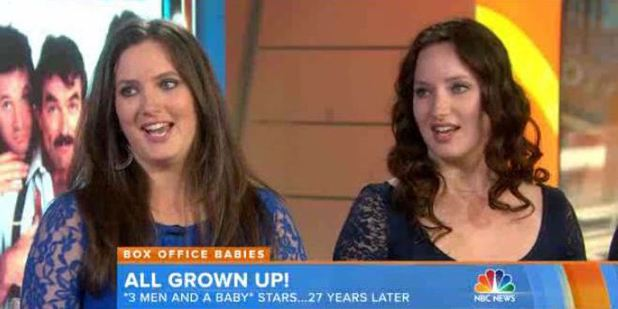 Lisa Blair and Michelle Blair Ontonovich from 3 Men and a Baby appear on the Today Show 27 years on