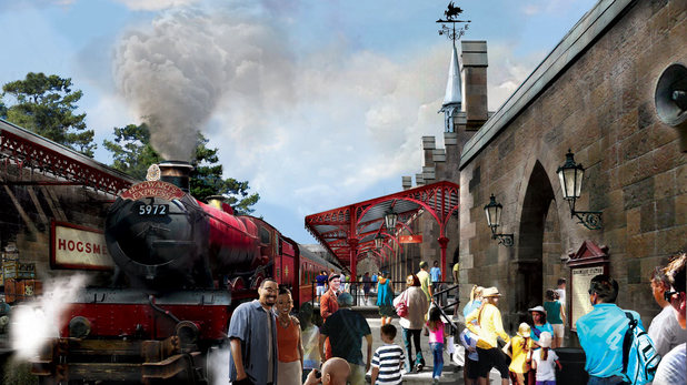 Concept rendering of The Wizarding World of Harry Potter - Hogsmeade Station