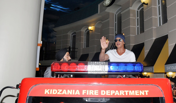 Shah Rukh Khan celebrates Father's Day at KidZania with SMILE foundation kids in Mumbai