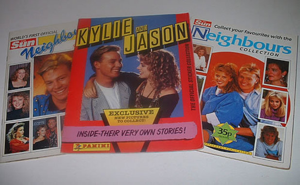 Kylie and Jason sticker album