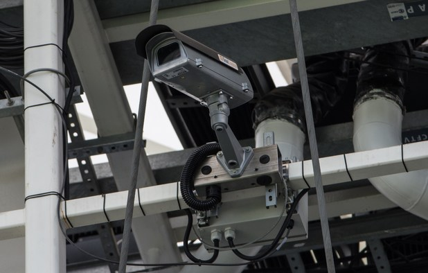 View of a special camera for the goal-line technology (GLT) to be used in the FIFA World Cup for the first time
