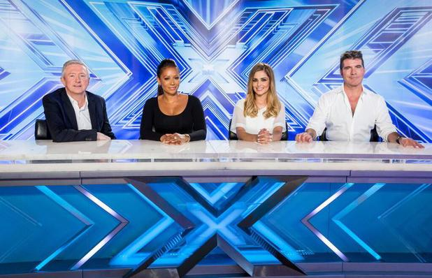 The X Factor 2014 judges panel: Louis Walsh, Mel B, Cheryl Cole & Simon Cowell
