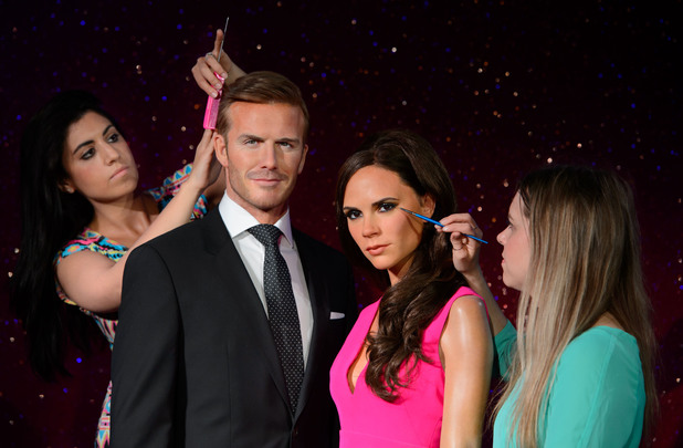 David and Victoria Beckham new Madame Tussaud waxwork