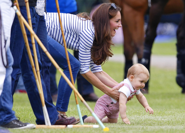 Prince George & Kate Middleton at the Jerudong Trophy charity polo match