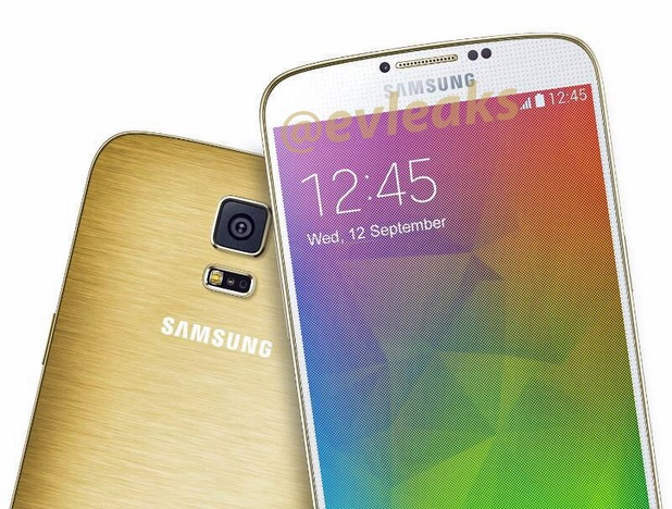Samsung's Galaxy F smartphone in gold