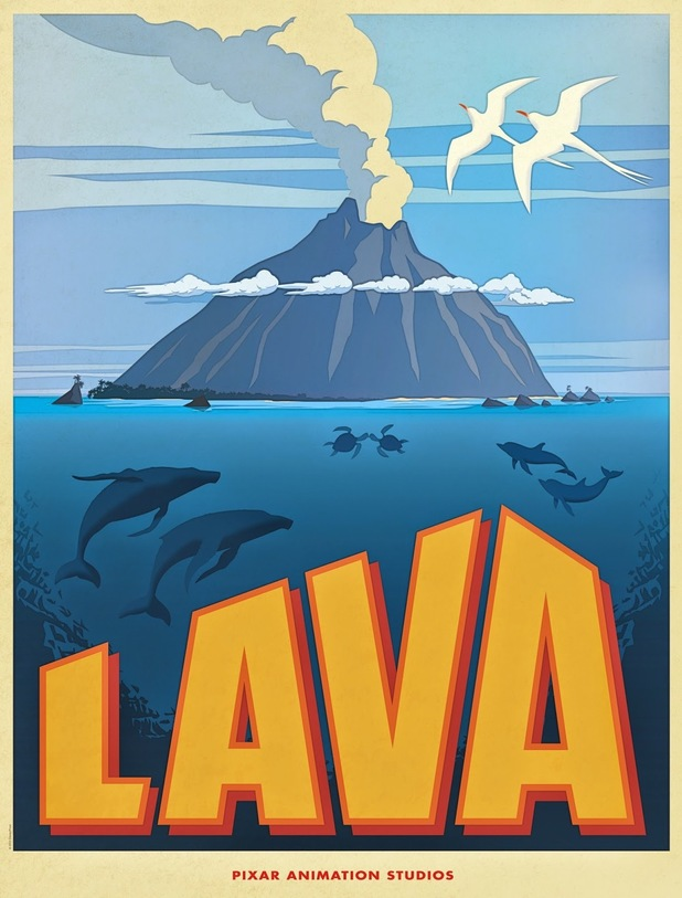 Official poster for Pixar's new short film Lava