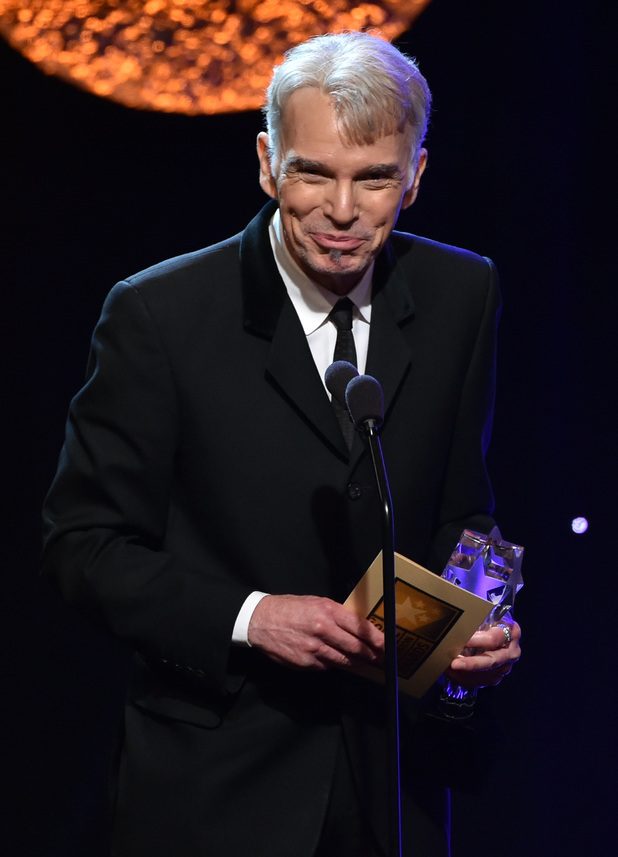 Billy Bob Thornton accepts the Best Actor in a Movie or Mini-Series award for 'Fargo' onstage during the 4th Annual Critics' Choice Television Awards