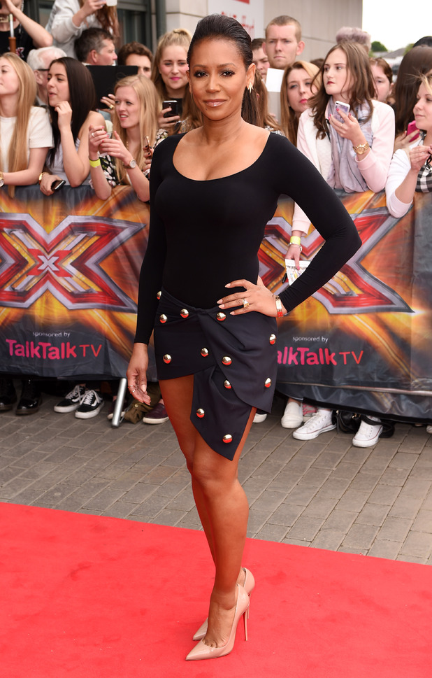 Mel B arriving at The X Factor auditions in Manchester