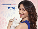 The actress lends her support to the campaign against animal testing.