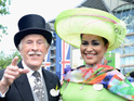 See a spectacular array of hats at Royal Ascot and some famous faces at the races.