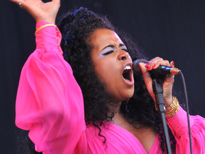 Kelis performs on the Pyramid stage