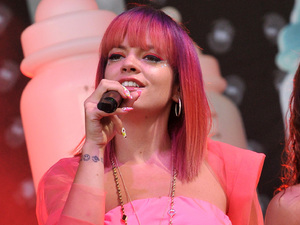 Lily Allen performs on the Pyramid stage during Day One of the Glastonbury Festival 2014 at Worthy Farm