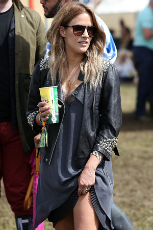 Caroline Flack at Glastonbury 2014