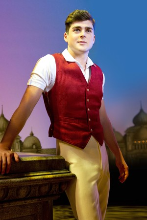 Liam Doyle as Fiyero in Wicked