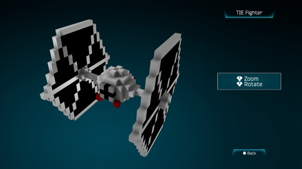 Tie Fighter created in Resogun's ship editor