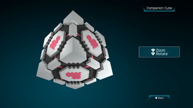 Companion Cube created in Resogun's ship editor
