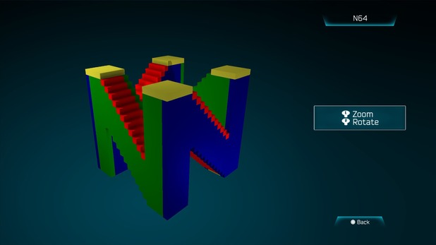 N64 created in Resogun's ship editor