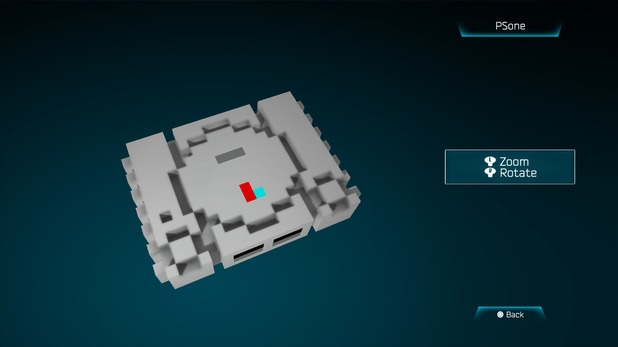 PSone created in Resogun's ship editor