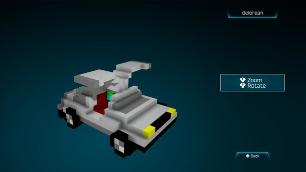 Delorean created in Resogun's ship editor