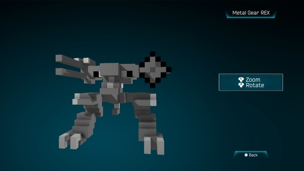 Metal Gear REX created in Resogun's ship editor