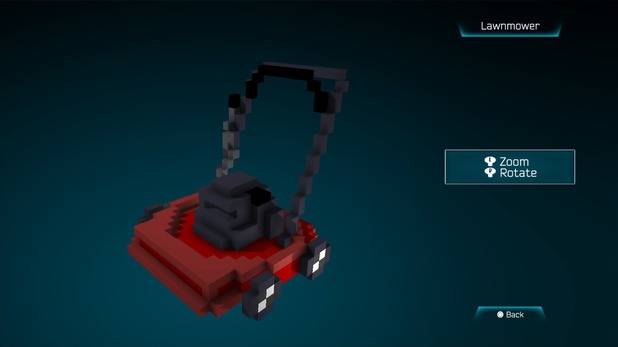Lawnmower created in Resogun's ship editor